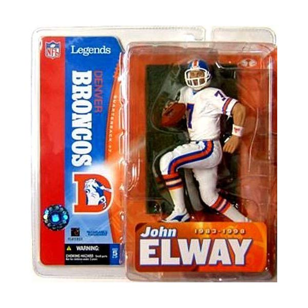 マクファーレン トイズ NFL アメフト アクション フィギュア ダイキャスト McFarlane Toys NFL Sports Picks Legends Series 1 Action Figure John Elway (Denver Broncos) White Jersey Variant