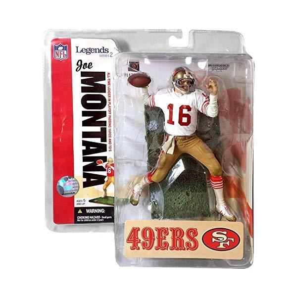 """マクファーレン トイズ NFL アメフト アクション フィギュア ダイキャスト McFarlane Toys 6"""" NFL Legends Series 2 - Joe Montana"""