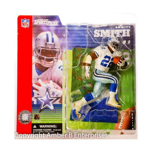 """マクファーレン トイズ NFL アメフト アクション フィギュア ダイキャスト McFarlane 7"""" Action Figure 70304 - #22 Emmitt Smith Dallas Cowboys NFL Series 1"""