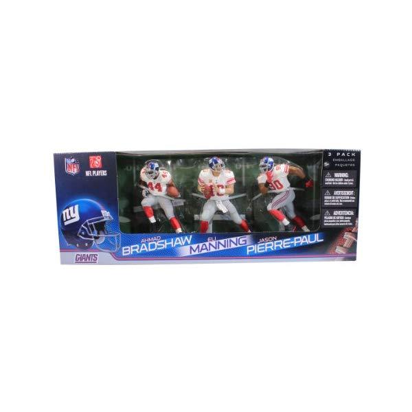 マクファーレン トイズ NFL アメフト アクション フィギュア ダイキャスト McFarlane Toys NFL New York Giants 3 Pack - Eli Manning, Jason Pierre-Paul and Ahmad Bradshaw Action Figures