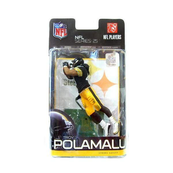 マクファーレン トイズ NFL アメフト アクション フィギュア ダイキャスト McFarlane Toys NFL Sports Picks Series 25 Action Figure Troy Polamalu (Pittsburgh Steelers) Black Jersey Variant