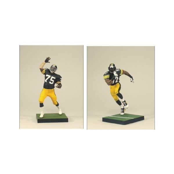 マクファーレン トイズ NFL アメフト アクション フィギュア ダイキャスト McFarlane Toys NFL Sports Picks Action Figure 2Pack Mean Joe Greene James Harrison Pittsburgh Steelers