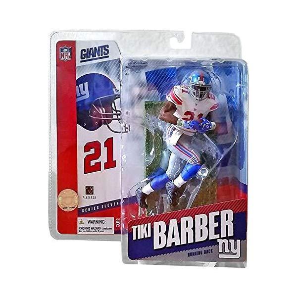マクファーレン トイズ NFL アメフト アクション フィギュア ダイキャスト McFarlane Toys NFL Sports Picks Series 11 Action Figure Tiki Barber (New York Giants) White Jersey Variant