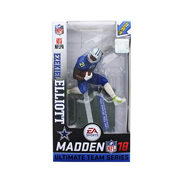 マクファーレン トイズ NFL アメフト アクション フィギュア ダイキャスト Mcfarlane Madden 18 Ultimate Team (Series 2) Ezekiel Elliott Chase Variant Color Rush Figure - Dallas Cowboys