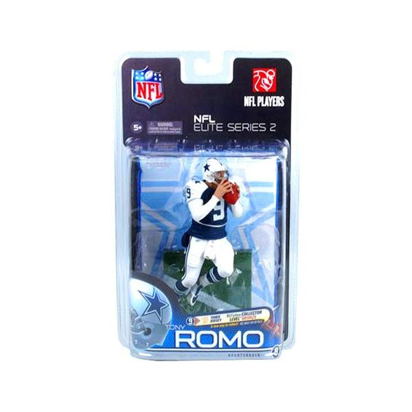 マクファーレン トイズ NFL アメフト アクション フィギュア ダイキャスト McFarlane Toys Action Figure - NFL Elite Series 2 - TONY ROMO (Collector Level Bronze - Variant Third Jersey) #'ed out of 3000