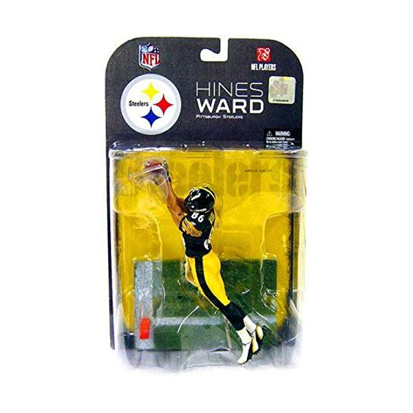 マクファーレン トイズ NFL アメフト アクション フィギュア ダイキャスト McFarlane Toys NFL Sports Picks Exclusive Action Figure Hines Ward (Pittsburgh Steelers) Black Jersey