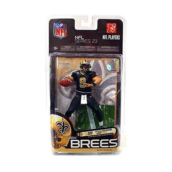 マクファーレン トイズ NFL アメフト アクション フィギュア ダイキャスト McFarlane Toys NFL Sports Picks Series 23 Action Figure Drew Brees (New Orleans Saints) Black Pants Gold Collector Level Chase