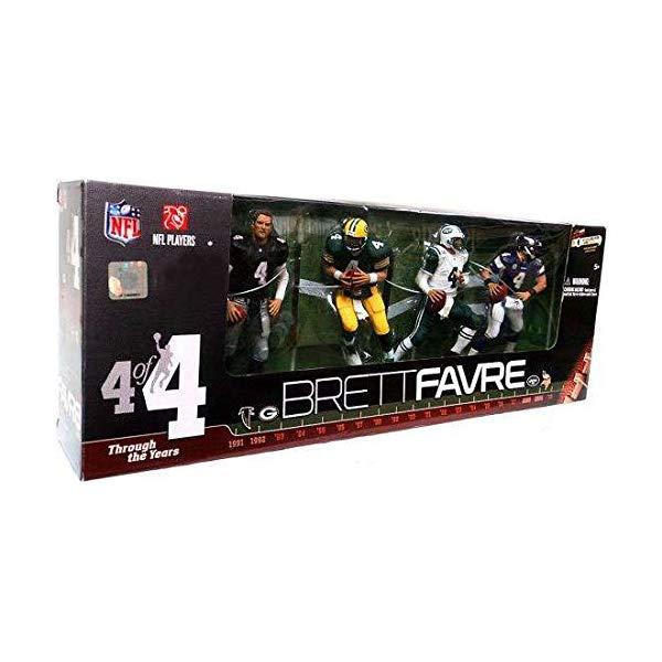マクファーレン トイズ NFL アメフト アクション フィギュア ダイキャスト McFarlane Toys NFL 2010 6 Inch Action Figure 4Pack Brett Favre