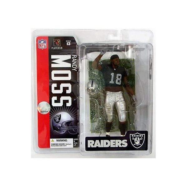 マクファーレン トイズ NFL アメフト アクション フィギュア ダイキャスト McFarlane NFL Series #13: Randy Moss in Black Oakland Raiders Uniform