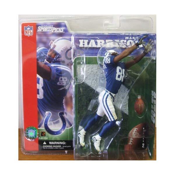 マクファーレン トイズ NFL アメフト アクション フィギュア ダイキャスト Marvin Harrison Series 2 McFarlane NFL SportsPicks Colts Blue Jersey by Unknown