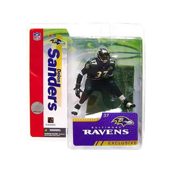 マクファーレン トイズ NFL アメフト アクション フィギュア ダイキャスト McFarlane Toys NFL Sports Picks Collectors Club Exclusive Action Figure Deion Sanders 2006 (Baltimore Ravens) Black Jersey
