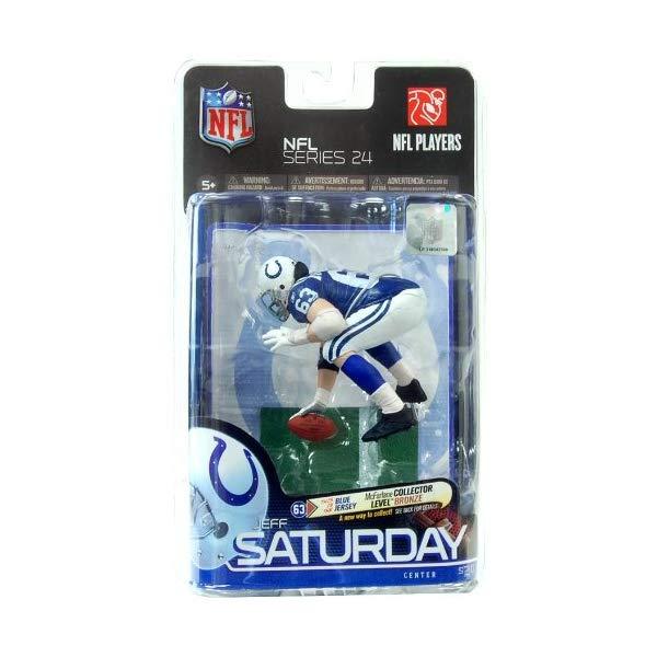 マクファーレン トイズ NFL アメフト アクション フィギュア ダイキャスト McFarlane Toys NFL Sports Picks Series 24 Action Figure Jeff Saturday (Indianapolis Colts) Blue Jersey Bronze Collector Level Chase