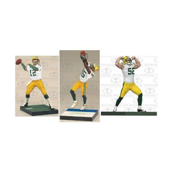 マクファーレン トイズ NFL アメフト アクション フィギュア ダイキャスト McFarlane Toys Green Bay Packers NFL 3-Pack (Aaron Rodgers, Clay Matthews and Greg Jennings)