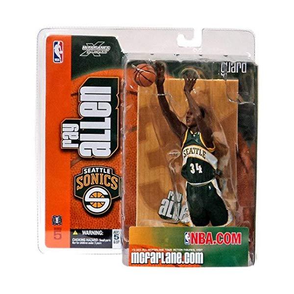 マクファーレン トイズ NBA バスケットボール アクション フィギュア ダイキャスト McFarlane Toys NBA Sports Picks Series 5 Action Figure Ray Allen Green Jersey