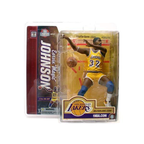 """マクファーレン トイズ NBA バスケットボール アクション フィギュア ダイキャスト McFarlane Toys 6"""" NBA Legends Series 2 - Magic Johnson"""