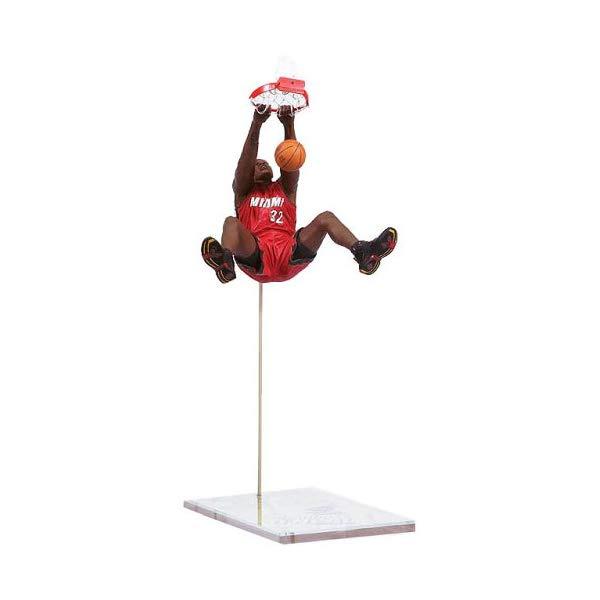 """マクファーレン トイズ NBA バスケットボール アクション フィギュア ダイキャスト NBA Series 8 Figure: Shaquille O'Neal with Red """"Heat"""" Jersey"""