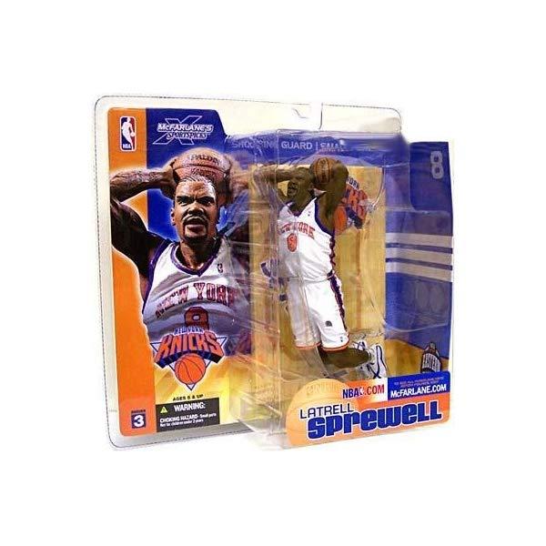 マクファーレン トイズ NBA バスケットボール アクション フィギュア ダイキャスト McFarlane Toys NBA Sports Picks Series 3 Action Figure Latrell Sprewell (New York Knicks)