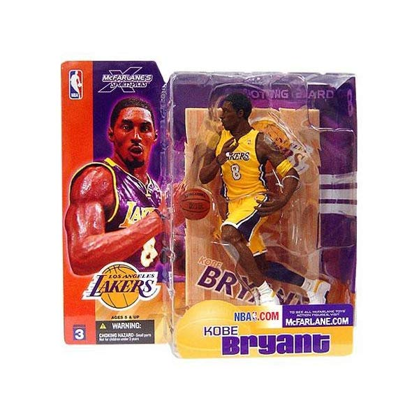 マクファーレン トイズ NBA バスケットボール アクション フィギュア ダイキャスト Kobe Bryant #8 Los Angeles Lakes Short Hair NO Sideburns Yellow Jersey Uniform Variant Chase Alternate McFarlane NBA Series 3 Action Figure