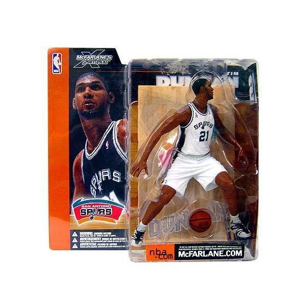 マクファーレン トイズ NBA バスケットボール アクション フィギュア ダイキャスト McFarlane Toys NBA Sports Picks Series 1 Action Figure Tim Duncan (San Antonio Spurs) White Jersey Variant