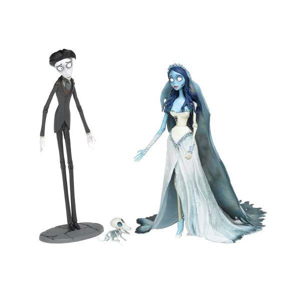 """マクファーレン トイズ ティム・バートンのコープスブライド アクション フィギュア Corpse Bride and Victor 7"""" Figures"""