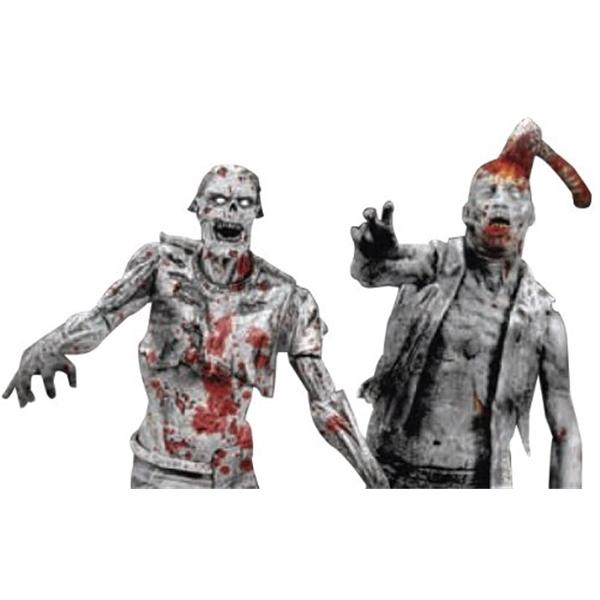 マクファーレン トイズ ウォーキングデッド アクションフィギュア ダイキャスト McFarlane Toys The Walking Dead Action Figures: Comic Book Series 1: Black & White Zombies 2-Pack
