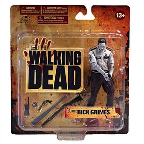マクファーレン トイズ ウォーキングデッド アクションフィギュア ダイキャスト McFarlane Toys The Walking Dead TV Series 1 Exclusive Action Figure Deputy Rick Grimes Bloody Black White