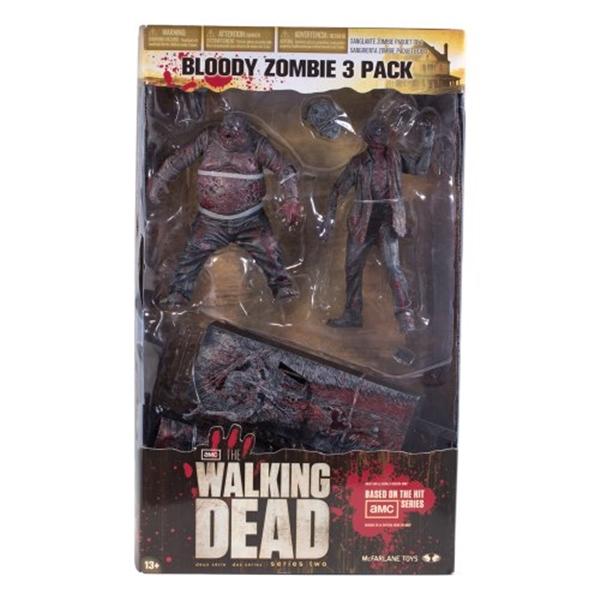 マクファーレン トイズ ウォーキングデッド アクションフィギュア ダイキャスト McFarlane Toys The Walking Dead TV: Bloody Black and White Zombie, 3 Pack