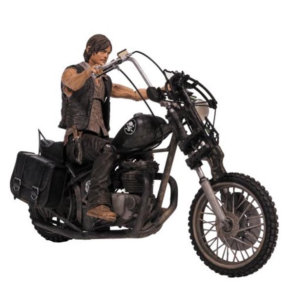 マクファーレン トイズ ウォーキングデッド アクションフィギュア ダイキャスト McFarlane Toys The Walking Dead TV Deluxe Box Set (Daryl Dixon with Chopper)