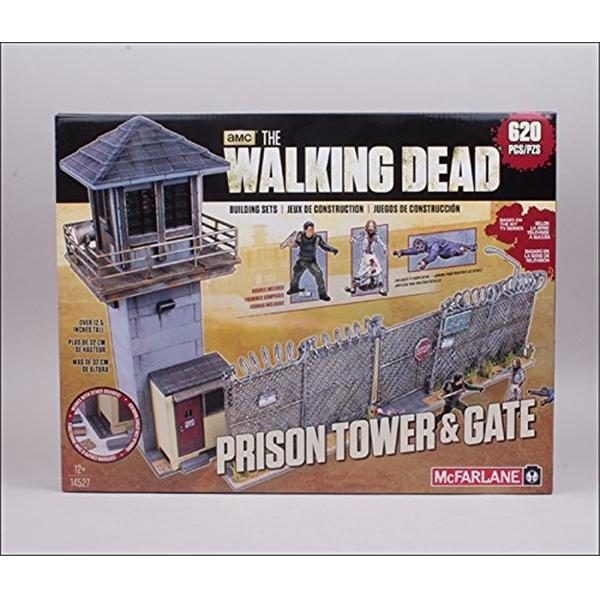 マクファーレン トイズ ウォーキングデッド アクションフィギュア ダイキャスト McFarlane Toys The Walking Dead TV Building Set Prison Tower and Gate 620 Pcs