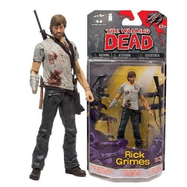 マクファーレン トイズ ウォーキングデッド アクションフィギュア ダイキャスト McFarlane Toys The Walking Dead Comic Series 3 Rick Grimes Figure