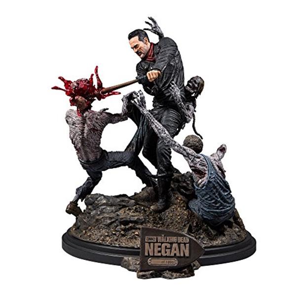 NEW マクファーレン トイズ ウォーキングデッド アクションフィギュア ダイキャスト McFarlane Toys the Resin Negan Walking 本店 Dead Limited Statue Multi Edition