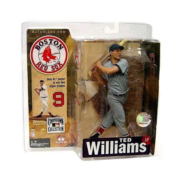 マクファーレン トイズ MLB メジャーリーグ ベースボール 大リーグ アクション フィギュア ダイキャスト McFarlane Toys MLB Cooperstown Series 4 Action Figure Ted Williams (Boston Red Sox) Grey Uniform Variant