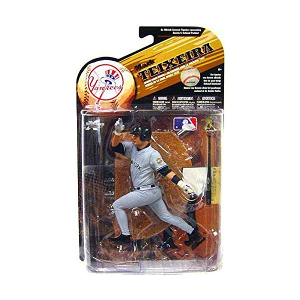 マクファーレン トイズ MLB メジャーリーグ ベースボール 大リーグ アクション フィギュア ダイキャスト McFarlane Toys MLB Sports Picks Series 25 [2009 Wave 2] Action Figure Mark Teixeira (New York Yankees) Grey Uniform Variant