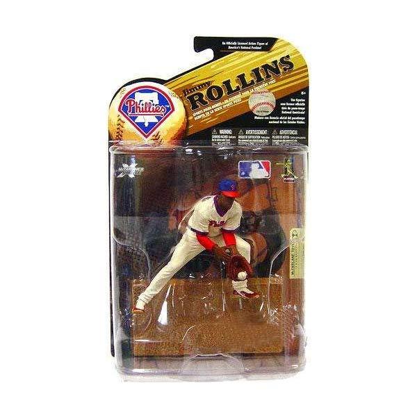 マクファーレン トイズ MLB メジャーリーグ ベースボール 大リーグ アクション フィギュア ダイキャスト McFarlane Toys MLB Sports Picks Series 24 (2009 Wave 1) Exclusive Action Figure Jimmy Rollins (Philadelphia Phillies) Throwback Uniform and Blue Hat