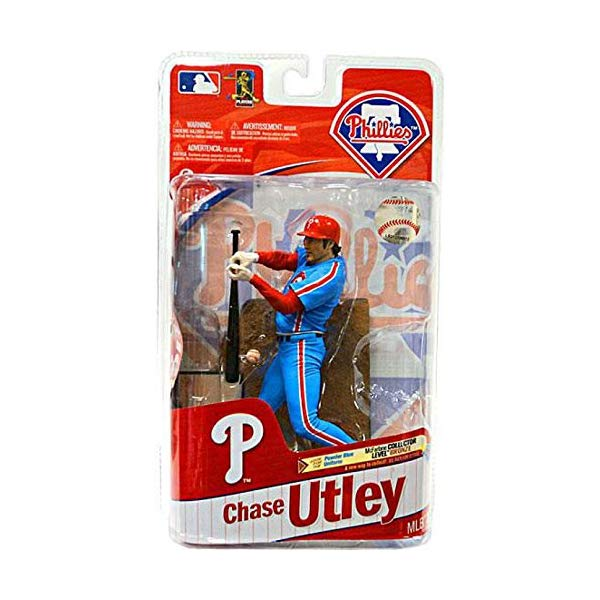 マクファーレン トイズ MLB メジャーリーグ ベースボール 大リーグ アクション フィギュア ダイキャスト McFarlane Toys MLB Sports Picks Series 27 Action Figure Chase Utley (Philadelphia Phillies) Powder Blue Uniform Bronze Collector Level Chase by Unknown