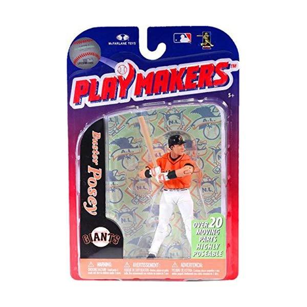 マクファーレン トイズ MLB メジャーリーグ ベースボール 大リーグ アクション フィギュア ダイキャスト McFarlane MLB San Francisco Giants 2012 Playmakers Series 3 Buster Posey Action Figure