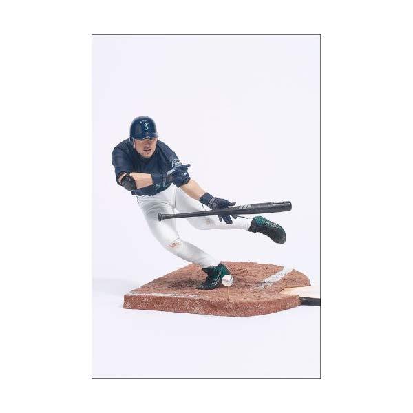 マクファーレン トイズ MLB メジャーリーグ ベースボール 大リーグ アクション フィギュア ダイキャスト McFarlane Toys MLB Sports Picks Series 4 Action Figure Ichiro Suzuki Blue Jersey