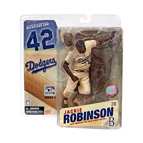 マクファーレン トイズ MLB メジャーリーグ ベースボール 大リーグ アクション フィギュア ダイキャスト McFarlane Toys MLB Cooperstown Collection Series 3 Action Figure Jackie Robinson (Brooklyn Dodgers) Sepia Color Uniform Variant