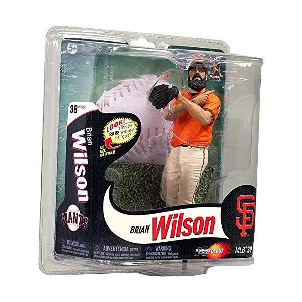 マクファーレン トイズ MLB メジャーリーグ ベースボール 大リーグ アクション フィギュア ダイキャスト McFarlane Toys MLB Sports Picks Series 30 Action Figure Brian Wilson (San Francisco Giants) Orange Jersey Gold Collector Level Chase