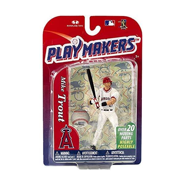 マクファーレン トイズ MLB メジャーリーグ ベースボール 大リーグ アクション フィギュア ダイキャスト McFarlane Playmakers: MLB Series 4 Mike Trout - L.A. Angels 4 inch Action Figure