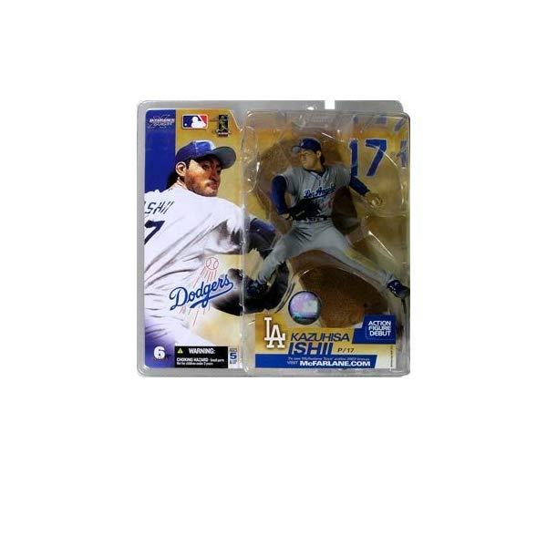 マクファーレン トイズ MLB メジャーリーグ ベースボール 大リーグ アクション フィギュア ダイキャスト Kazuhisa Ishii #17 Grey Gray Uniform Alternate Chase Variant Los Angeles Dodgers McFarlane MLB Seriae 6 Action Figure