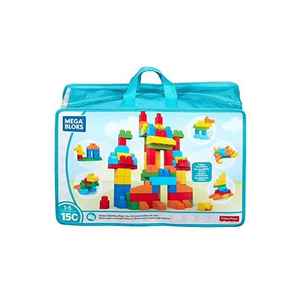 メガブロック ブロック おもちゃ 知育玩具 お誕生日プレゼント Mega Bloks Deluxe Building Bag 150-Piece