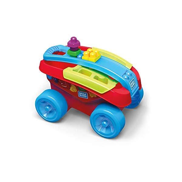 メガブロック ワゴン かんたんお片付け 男の子 ブロック おもちゃ 知育玩具 お誕生日プレゼント Mega Bloks BuilMUSzpV