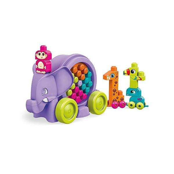 メガブロック ブロック おもちゃ 知育玩具 お誕生日プレゼント Mega Bloks Building Basics Elephant Parade