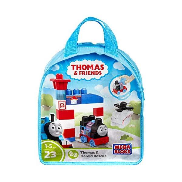 メガブロック トーマス ブロック おもちゃ 知育玩具 お誕生日プレゼント Mega Bloks Thomas & Friends Thomas & Harold Rescue Center Playset Bag