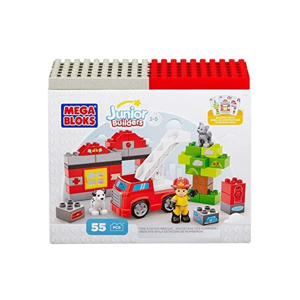 メガブロック ブロック おもちゃ 知育玩具 お誕生日プレゼント Mega Bloks DCK75 Junior Building Blocks Fire Station Rescue