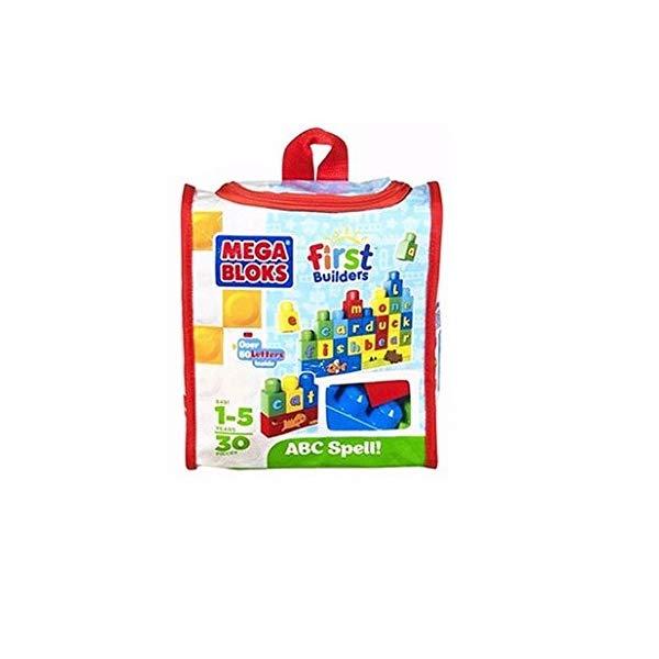 メガブロック ファーストビルダーズ ブロック おもちゃ 知育玩具 お誕生日プレゼント Mega Bloks First Builders ABC Spell 30-Piece (Bag)