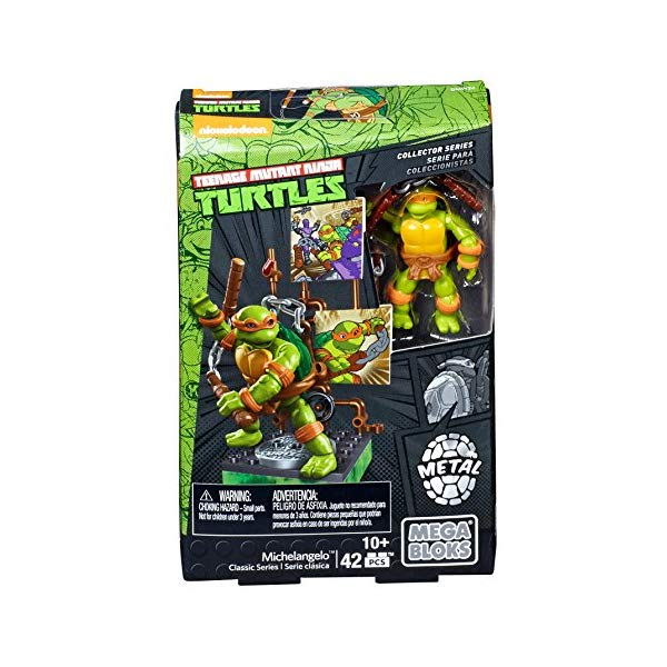 メガブロック タートルズ ブロック おもちゃ Mega Bloks Teenage Mutant Ninja Turtles Collectors 1987 Classic Michaelangelo Figure