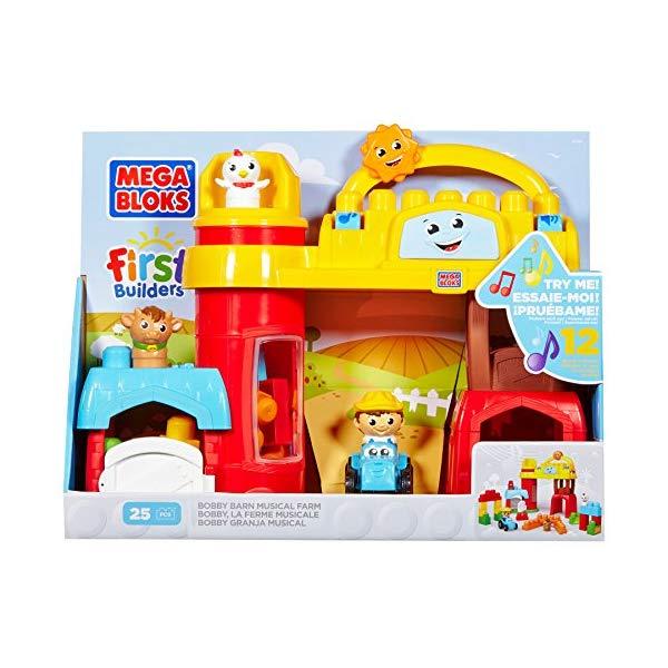 メガブロック ファーストビルダーズ ブロック おもちゃ 知育玩具 お誕生日プレゼント Mega Bloks First Builders Bobby Barn Musical Farm
