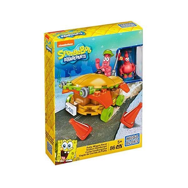 メガブロック スポンジボブ ブロック おもちゃ Mega Bloks SpongeBob SquarePants Patty Wagon Racer Playset